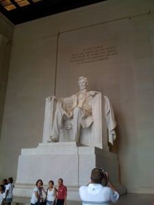 You know, you always hear how the Lincoln memorial is just a big-ass Lincoln sitting down, but you don't realize till you get there that it really is one big-ass Lincoln.